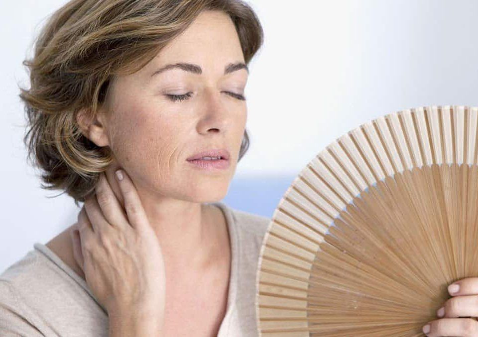Woman feeling the menopause symptoms