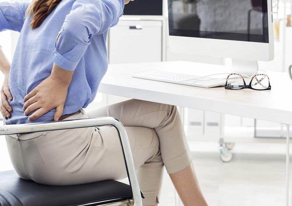 Back pain at office desk