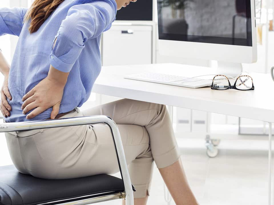 Back pain at office desk